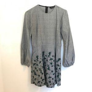 NWOT ZARA plaid floral dress